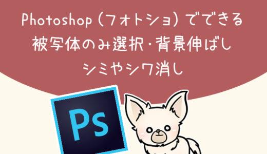【Photoshop】被写体選択・背景伸ばし・シミシワ消しの方法【フォトショ】